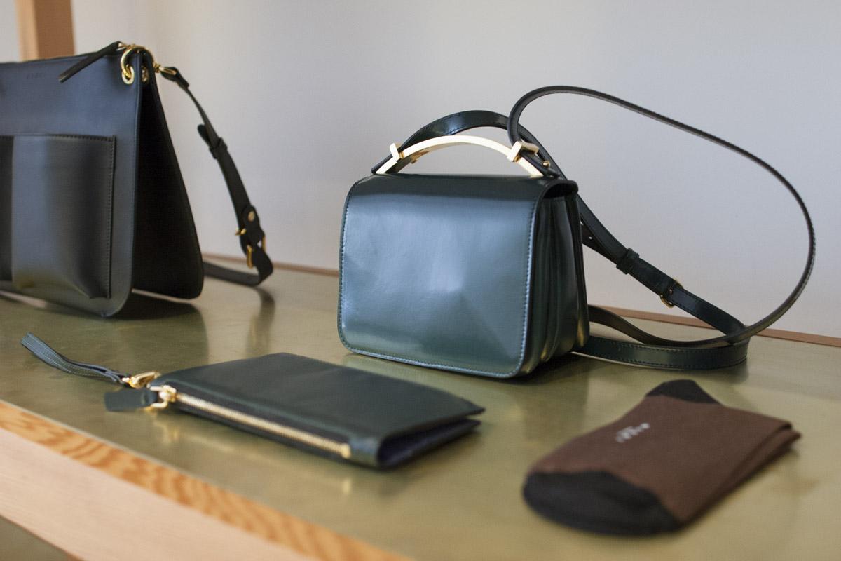 handbag display at La Garconne